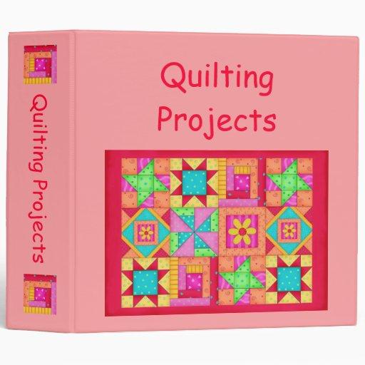 Coral Patchwork Quilt Binder Album