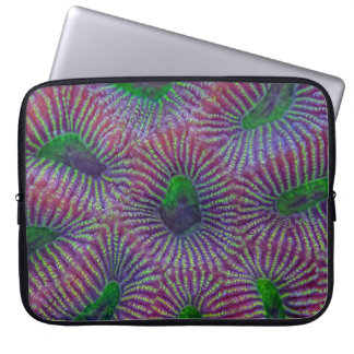Coral pattern computer sleeve