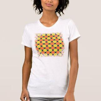 Coral Peach Lemon Zest Yellow Blue Gray Tile T-shirts