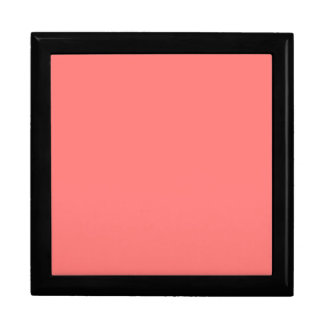 Coral Peach Pink Color Trend Blank Template Gift Box