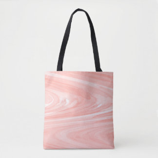 Coral Peach Swirl Watercolor Pattern Tote Bag