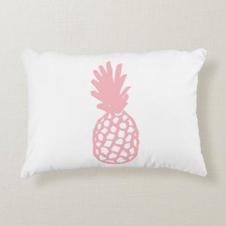 Coral Pineapple Accent Pillow