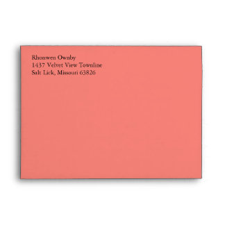 Coral Pink A7 5x7 Custom Pre-addressed Envelopes