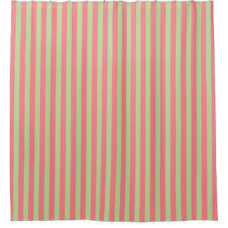 Mint Green Stripe Shower Curtain