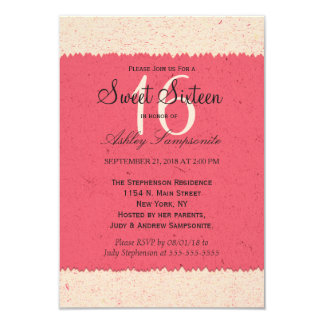 Coral Pink and Peach Edgy Pattern Card
