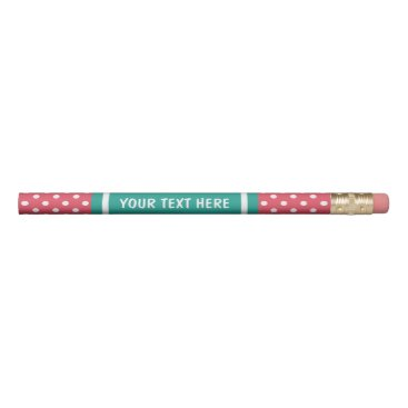 backgroundpatterns Coral pink and turquoise pencils with custom name