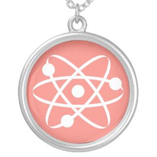 Coral Pink Atom Pendant