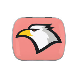 Coral Pink Bald Eagle Candy Tin