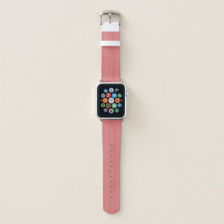 Coral Pink Bamboo Wood Grain Look Apple Watch Band
