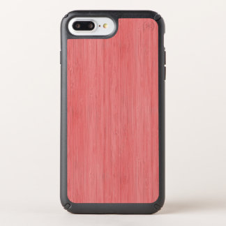Coral Pink Bamboo Wood Grain Look Speck iPhone Case