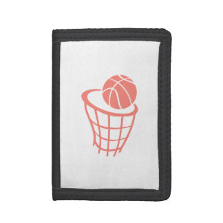 Coral Pink Basketball Trifold Wallet