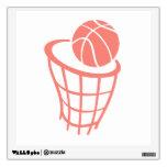 Coral Pink Basketball Wall Decal