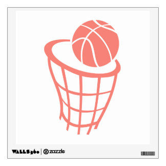 Coral Pink Basketball Wall Decal