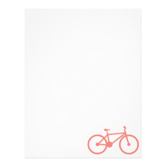 Coral Pink Bicycle Letterhead Template
