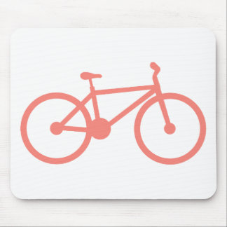 Coral Pink Bicycle Mouse Pad