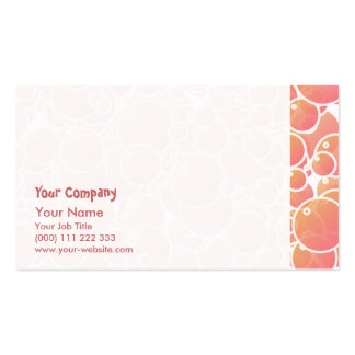 Coral pink bubbles business card