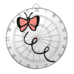 Coral Pink Butterfly Dartboards