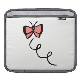Coral Pink Butterfly iPad Sleeve