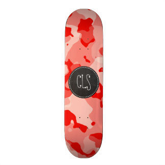 Coral Pink Camo; Camouflage; Retro Chalkboard Skateboard Decks