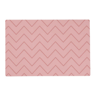 Coral Pink Chevron Placemat