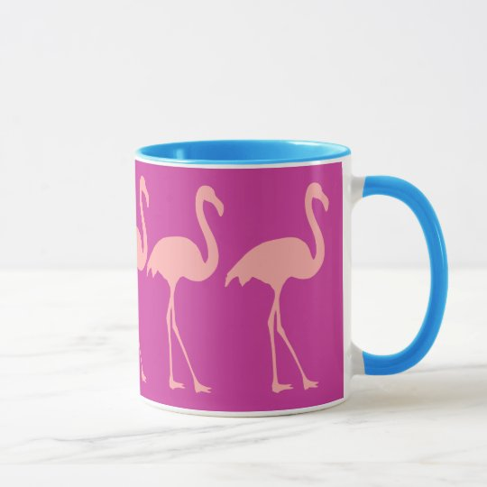 C Pink Flamingo Bird Design Coffee Mug