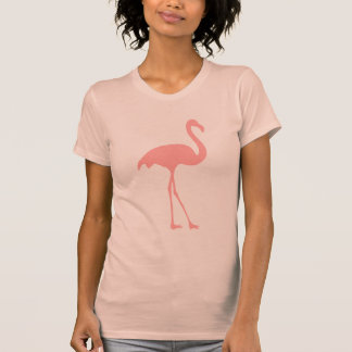 Coral Pink flamingo t shirt for women