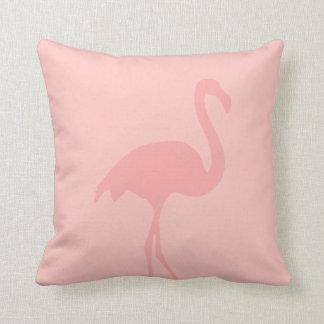 Coral pink flamingo throw pillow