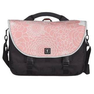 Coral Pink Floral Design Modern Abstract Flower Commuter Bag