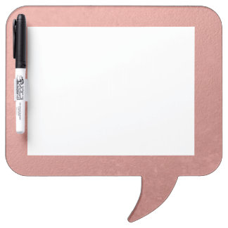 Coral Pink Foil Printed Dry-Erase Board