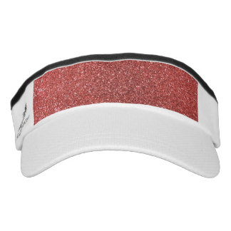 Coral pink glitter headsweats visors