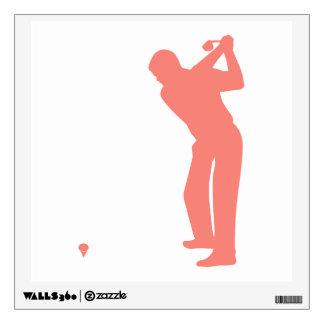 Coral Pink Golf Wall Sticker
