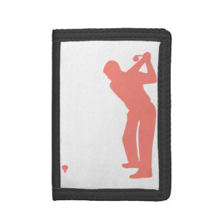 Coral Pink Golf Trifold Wallet