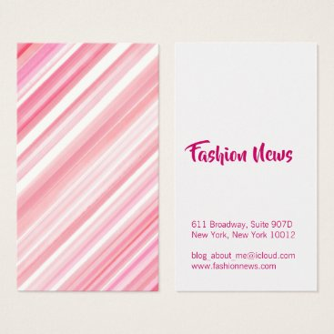 Coral Pink Graphical Pattern Business Card