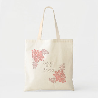 Coral Pink Hibiscus Sister of Bride Tote Bag