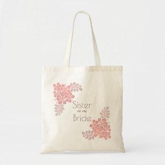 Coral Pink Hibiscus Sister of Bride Tote Bag