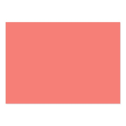 Coral Pink High End Colored Business Cards Pack