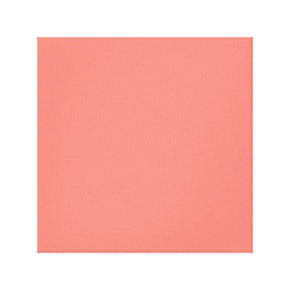 Coral Pink High End Colored Canvas Print
