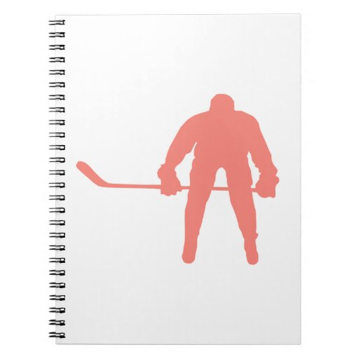 Coral Pink Hockey Notebooks