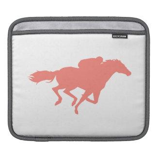 Coral Pink Horse Racing iPad Sleeves