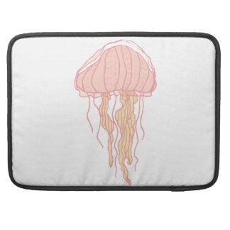 Coral Pink Jellyfish Illustration MacBook Pro Sleeve