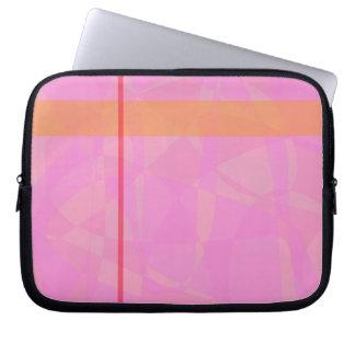 Coral Pink Marble Minimalism Laptop Sleeves