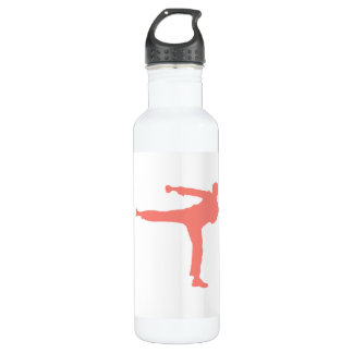 Coral Pink Martial Arts 24oz Water Bottle