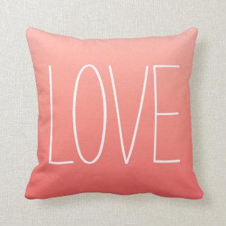 Coral Pink Ombré Love Pillow