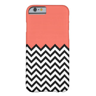 Coral Pink Peach Color Block Chevron iPhone 6 case iPhone 6 Case