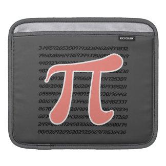 Coral Pink Pi symbol iPad Sleeves