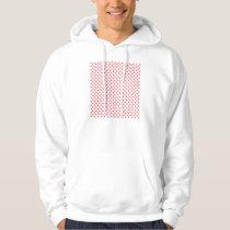 Coral Pink Polka Dots by Shirley Taylor Hoodie