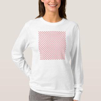 Coral Pink Polka Dots by Shirley Taylor T-Shirt