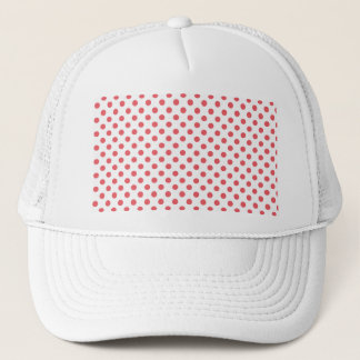 Coral Pink Polka Dots by Shirley Taylor Trucker Hat