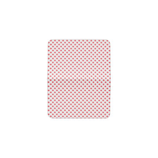 Z Coral Card Coral Pink Polka Dots Business