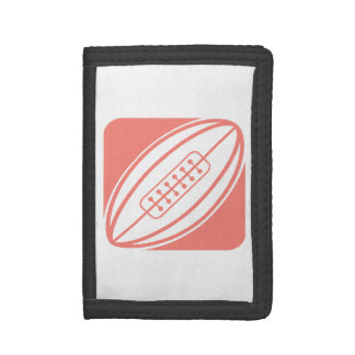 Coral Pink Rugby Trifold Wallet